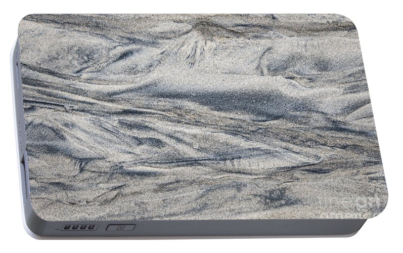 Wet Sand Abstract I Portable Battery Charger