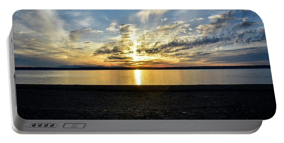 Landscape Portable Battery Charger featuring the photograph What A Sunset by Eric M Bass