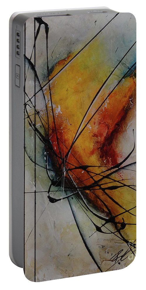 Art Portable Battery Charger featuring the painting What Happened To Perfect by Bradley Carter
