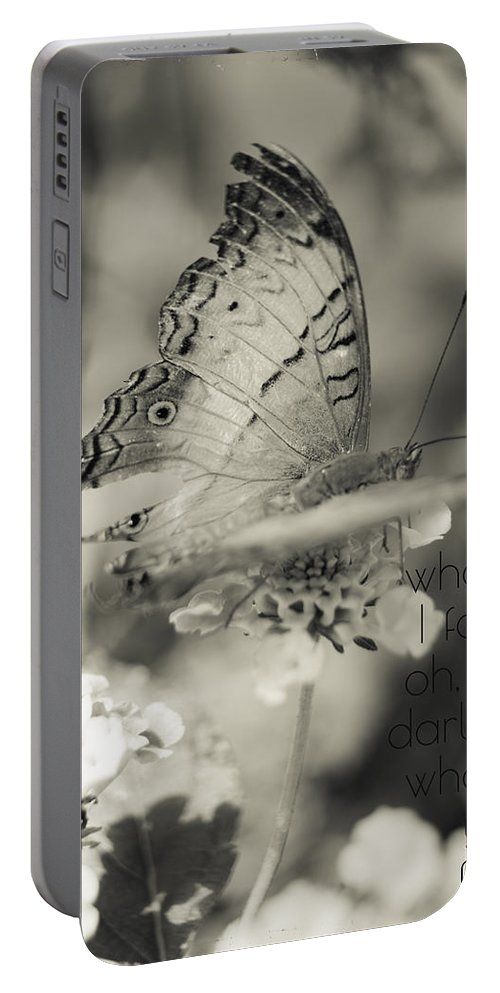 Butterfly Portable Battery Charger featuring the photograph What If I Fall by Nancy Forehand