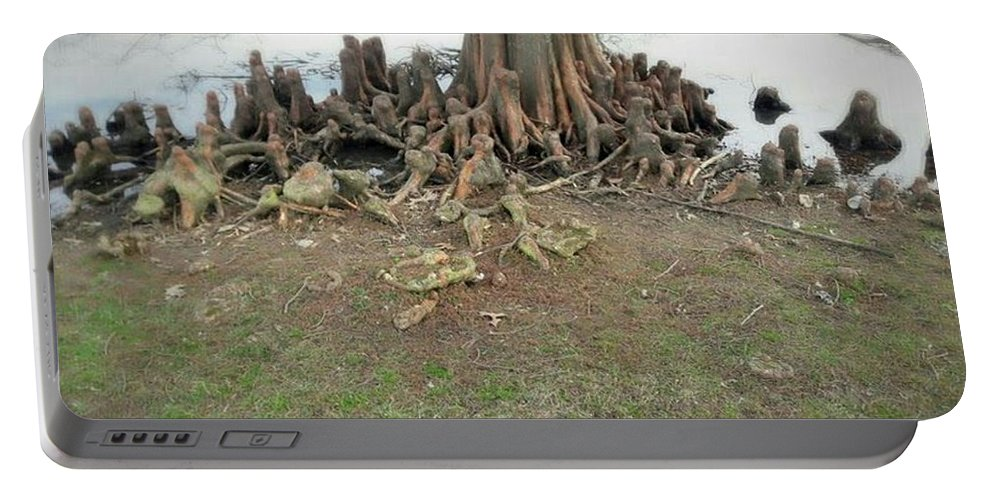Tree Portable Battery Charger featuring the photograph What In The Roots by Jessica Peterson
