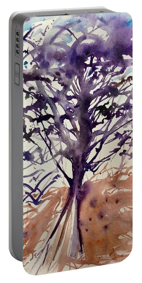 Portable Battery Charger featuring the painting What Is The Tree? by Michael Richardson