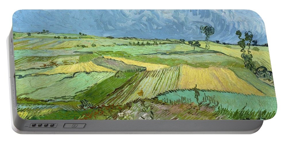 Clouds Portable Battery Charger featuring the painting Wheat Fields After The Rain, The Plain Of Auvers by Vincent van Gogh
