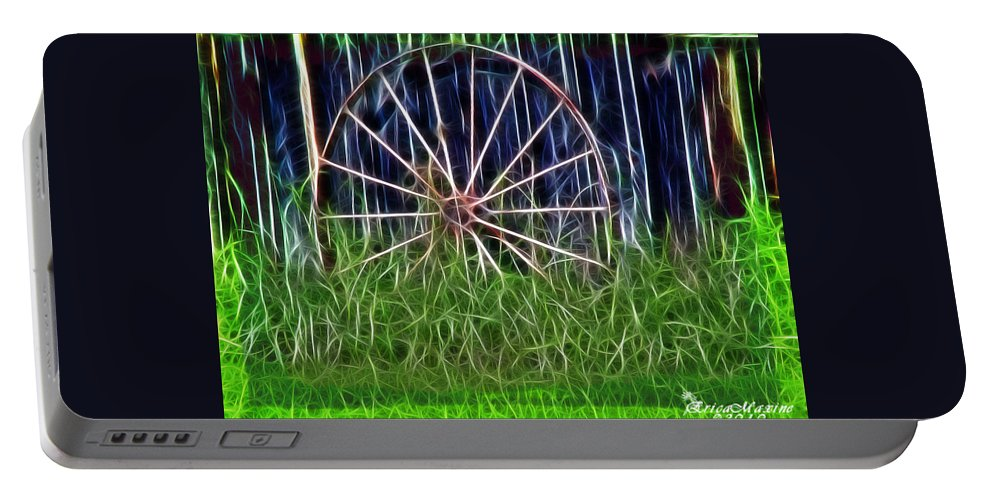 Farm Portable Battery Charger featuring the photograph Wheel Of Fortune by Ericamaxine Price