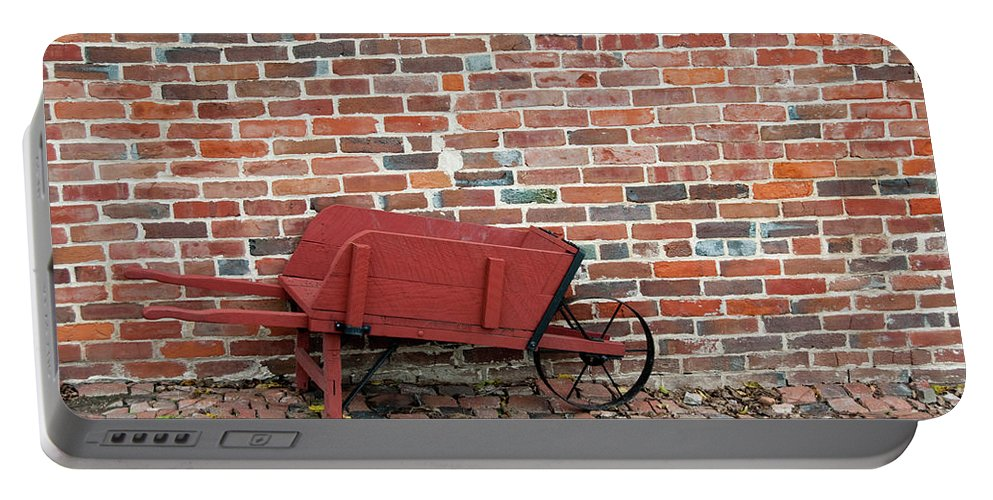 Wheelbarow Portable Battery Charger featuring the photograph Wheelbarrow by David Arment