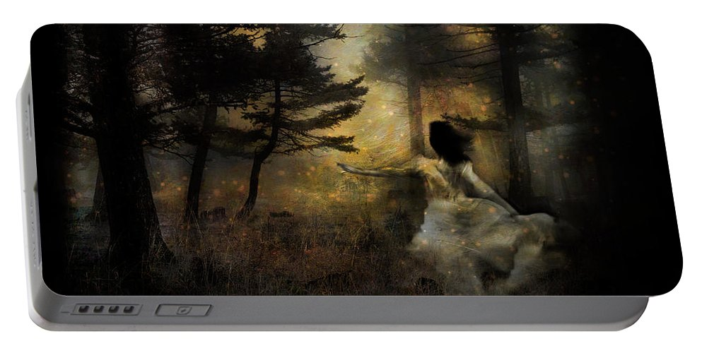 Forest Portable Battery Charger featuring the photograph When The Forest Calls by Theresa Tahara