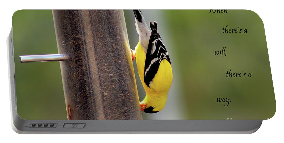 Bird Portable Battery Charger featuring the photograph When There's A Will... by Douglas Milligan