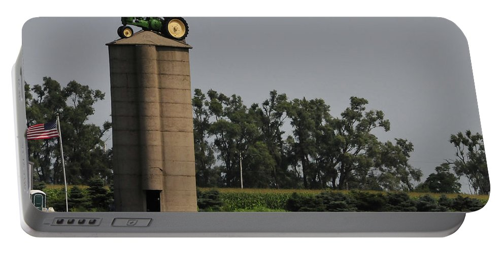 Silo Portable Battery Charger featuring the photograph Where Did I Park by David Arment