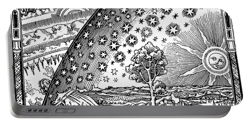 Art Portable Battery Charger featuring the photograph Where Heaven And Earth Meet 1888 by Science Source