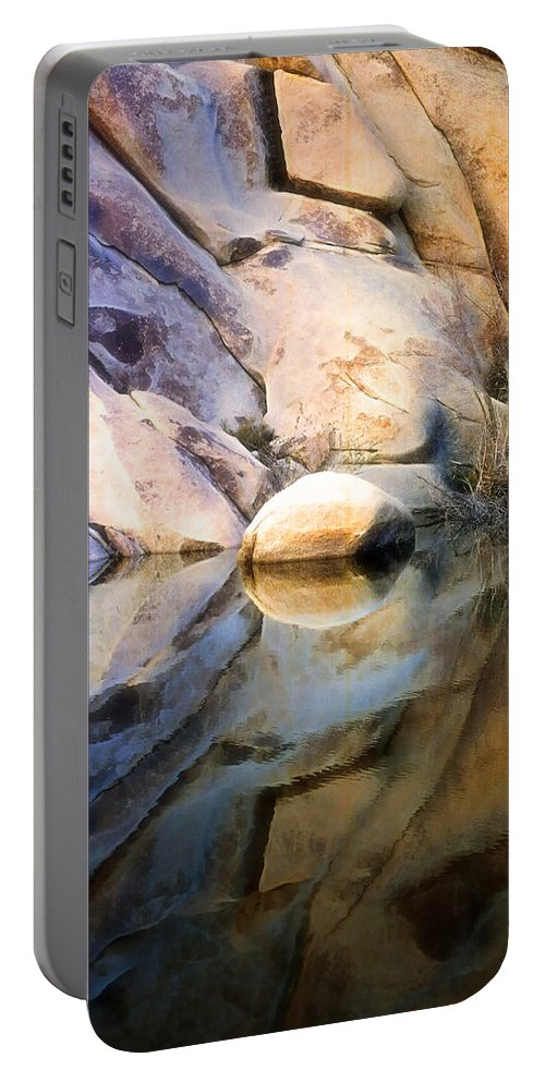 Desert Portable Battery Charger featuring the photograph Where We Meet by Kathy Bassett