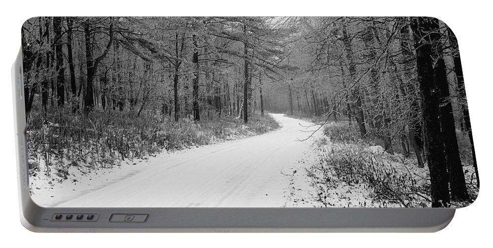 Winter Portable Battery Charger featuring the photograph Where Will It Lead by Jean Macaluso