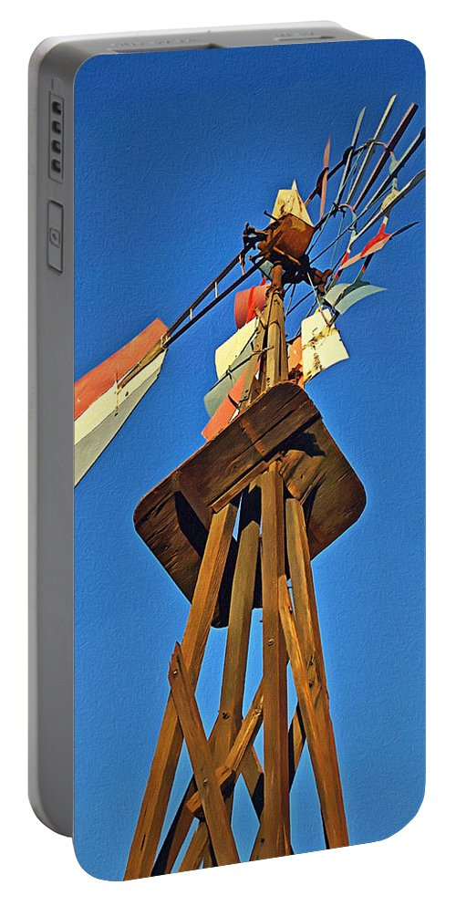 Windmill Tower Portable Battery Charger featuring the photograph Which Way The Wind Blows by Glenn McCarthy Art and Photography