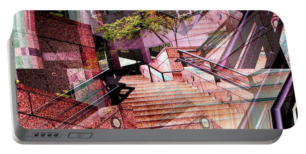 Stairs Portable Battery Charger featuring the photograph Which Way Up by Tim Allen