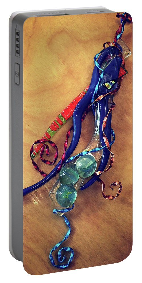 Fused Glass Portable Battery Charger featuring the photograph Whimsey by Mykel Davis