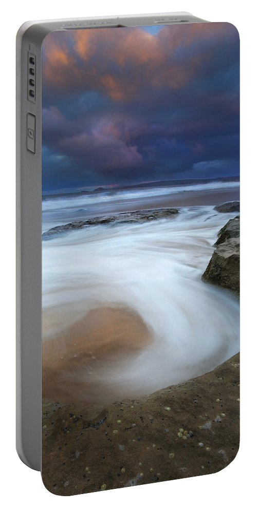Knight's Beach Portable Battery Charger featuring the photograph Whirlpool Dawn by Mike Dawson