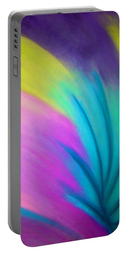 Pastel; Colors; Abstract Drawing Portable Battery Charger featuring the drawing Whirlwind by Jan Gilmore