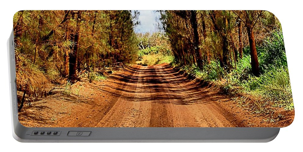 Square Portable Battery Charger featuring the photograph Whispering Pines by DJ Florek