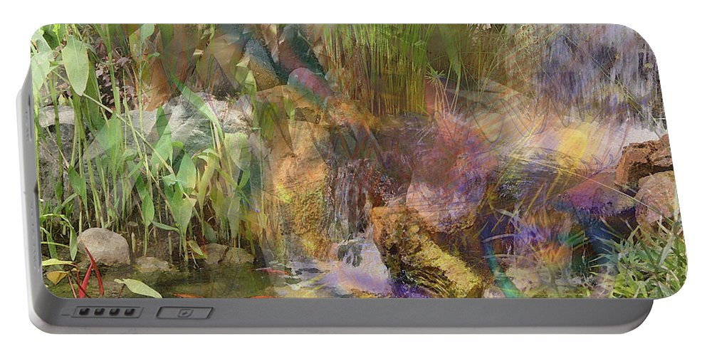 Whispering Waters Portable Battery Charger featuring the digital art Whispering Waters by John Beck