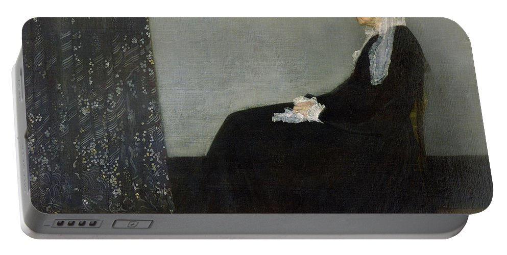 Arrangement Portable Battery Charger featuring the painting Whistlers Mother by James Abbott McNeill Whistler