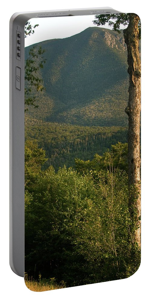 white Mountains Portable Battery Charger featuring the photograph White Mountain Evening by Paul Mangold