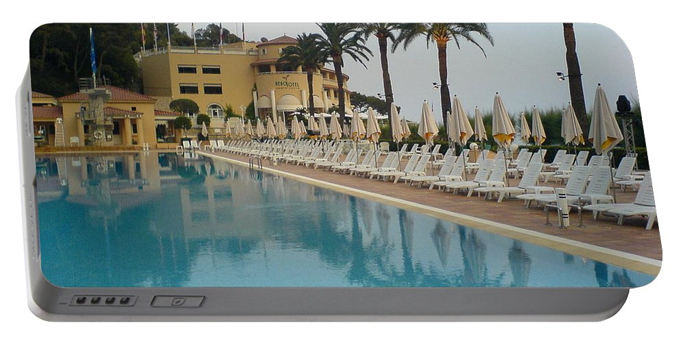 Pool Portable Battery Charger featuring the photograph White Night by Are Lund