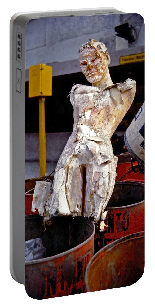 Trash Portable Battery Charger featuring the photograph White Trash by Skip Hunt