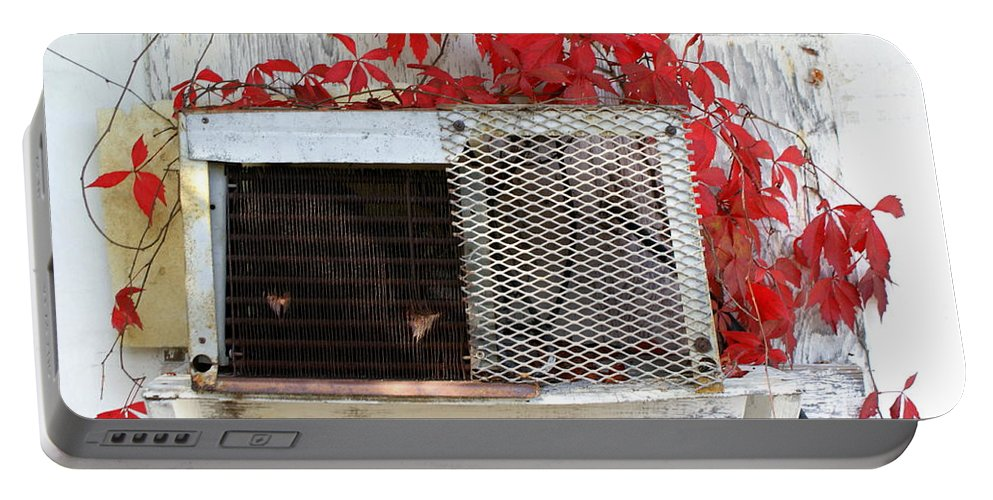 Air Conditioner Portable Battery Charger featuring the photograph White Wash by Jennifer Diaz