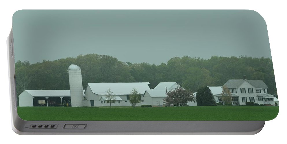 Farm Portable Battery Charger featuring the photograph White Wash by Robert Lowe