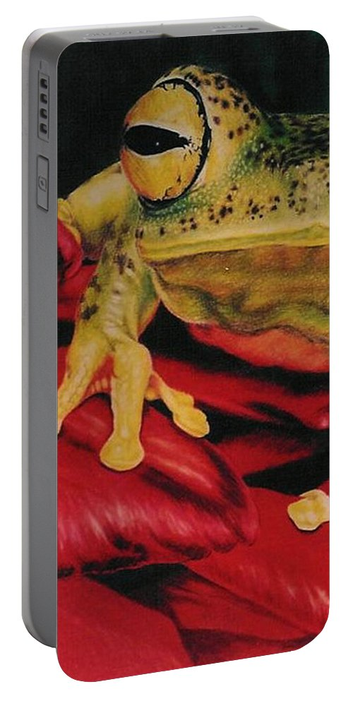 Art Portable Battery Charger featuring the drawing Who Loves Ya by Barbara Keith