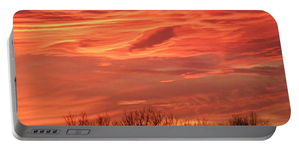 Sunset Portable Battery Charger featuring the photograph Who Needs Jupiter by Gale Cochran-Smith