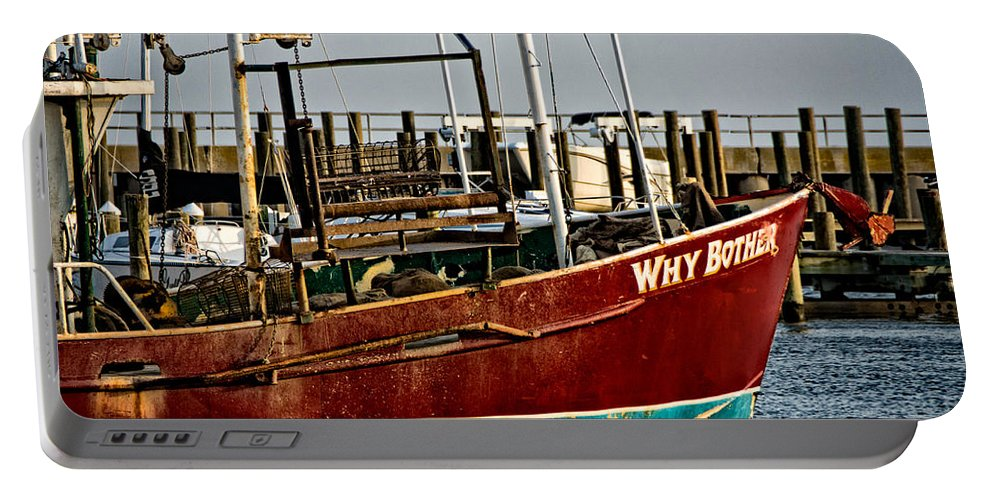 Boat Portable Battery Charger featuring the photograph Why Bother by Christopher Holmes