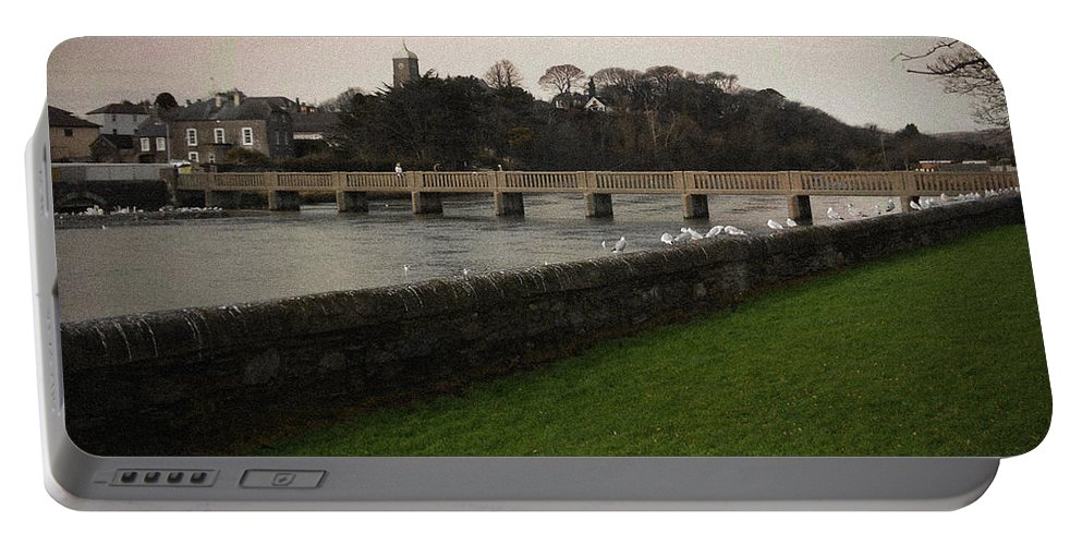 Footbridge Portable Battery Charger featuring the photograph Wicklow Footbridge by Tim Nyberg