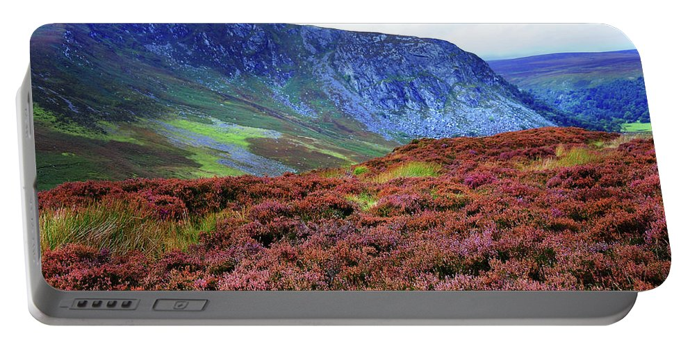 Jenny Rainbow Fine Art Photography Portable Battery Charger featuring the photograph Wicklow Heather Carpet by Jenny Rainbow