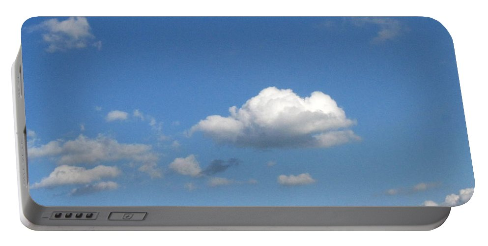 Clouds Portable Battery Charger featuring the photograph Wide Open by Rhonda Barrett