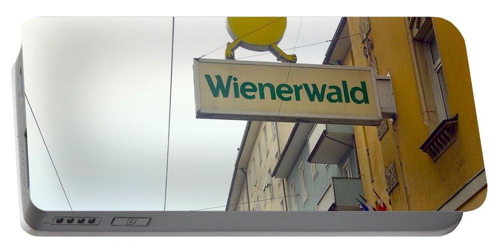 Chicken Portable Battery Charger featuring the photograph Wienerwald In Salzburg by Minaz Jantz