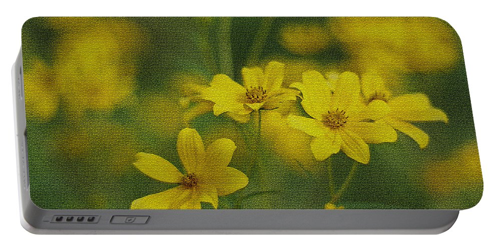Wild Portable Battery Charger featuring the photograph Wild Daisies by Leanne Lei