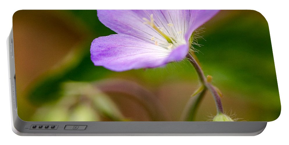 Flower Portable Battery Charger featuring the photograph Wild Geranium by Louise Heusinkveld