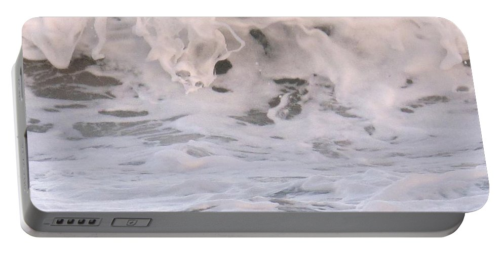 Surf Portable Battery Charger featuring the photograph Wild Surf by Ian MacDonald