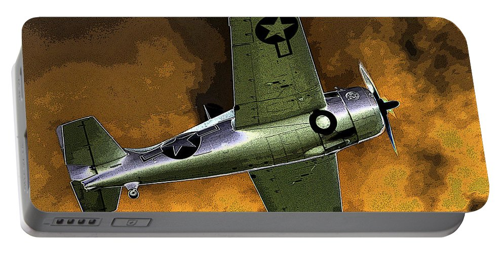 Wildcat Portable Battery Charger featuring the painting Wildcat by David Lee Thompson