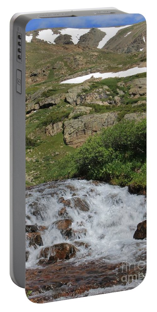 Nature Portable Battery Charger featuring the photograph Wilderness Cascades by Tonya Hance