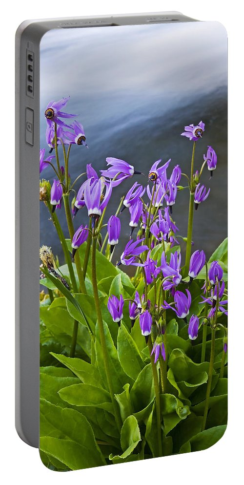Wildlflowers Portable Battery Charger featuring the photograph Wildflower Cascade by Mike Dawson