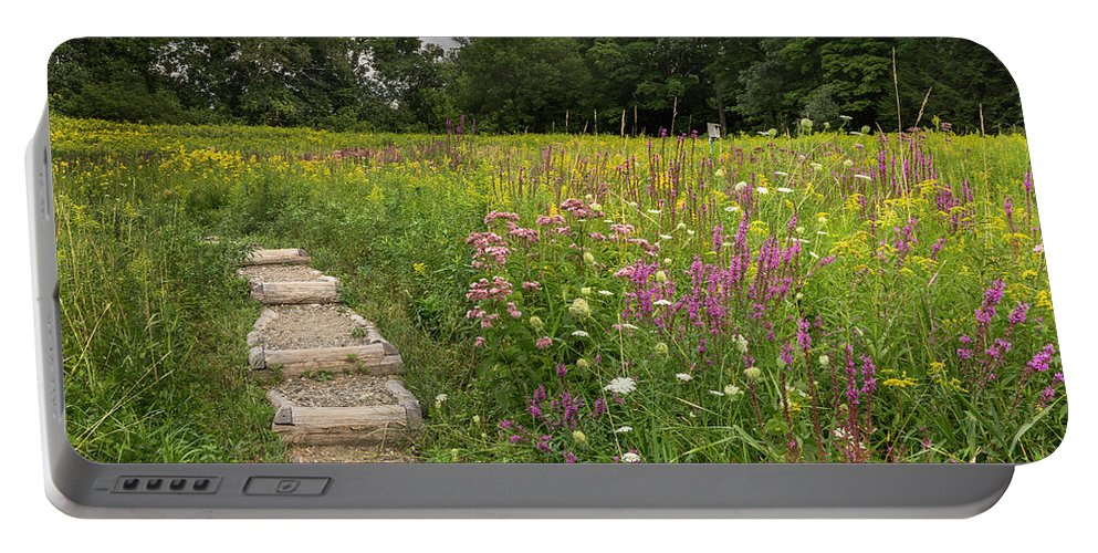 Wildflowers Portable Battery Charger featuring the photograph Wild Flowers by Bill Wakeley
