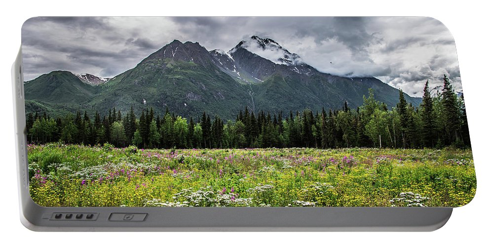 Wildflowers Portable Battery Charger featuring the photograph Wildflowers In Palmer by Carrie Olier