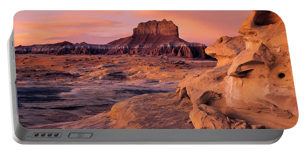 Wildhorse Butte Portable Battery Charger featuring the photograph Wildhorse Butte by Leland D Howard