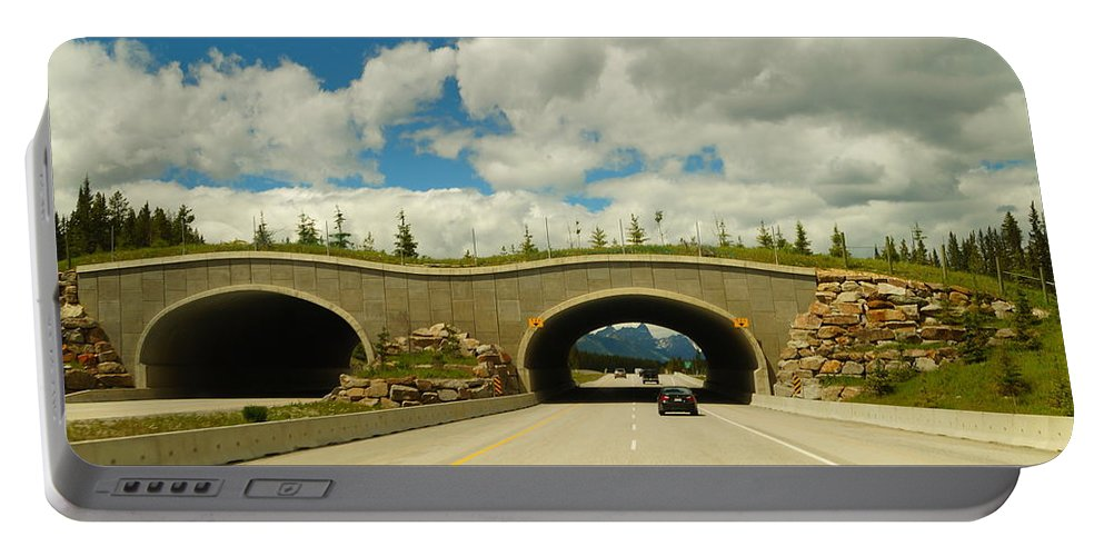 Banff National Park Portable Battery Charger featuring the photograph Wildlife Crossing by Beth Collins