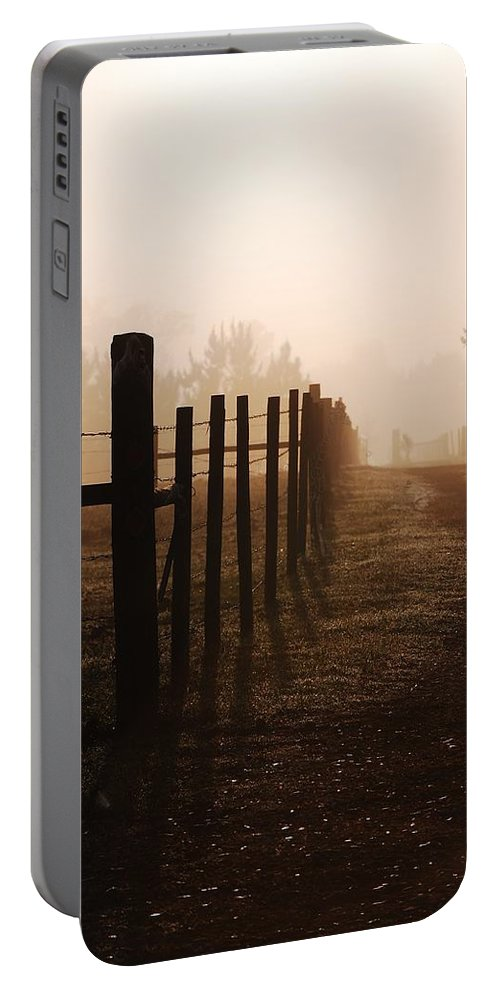 Mist Portable Battery Charger featuring the photograph Will They Be Mist by Robert Meanor