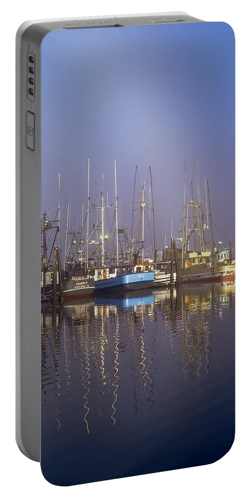 Boats Portable Battery Charger featuring the photograph Winchester Bay Fishing Boats by Robert Potts