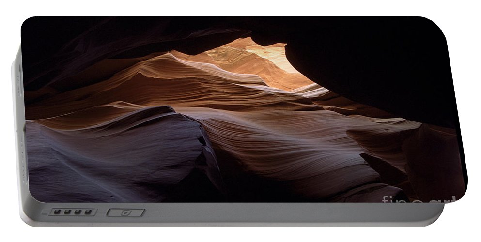 Antelope Canyon Portable Battery Charger featuring the photograph Wind And Water by Kathy McClure