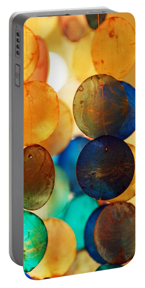 Wind Chimes Portable Battery Charger featuring the photograph Wind Chimes by Jill Reger
