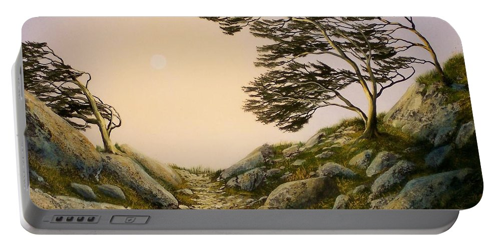 Windblown Warriors Portable Battery Charger featuring the painting Windblown Warriors by Frank Wilson